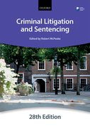 Cover for Criminal Litigation and Sentencing