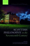 Cover for Scottish Philosophy in the Seventeenth Century