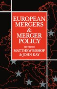 Cover for European Mergers and Merger Policy
