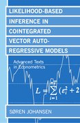 Cover for Likelihood-Based Inference in Cointegrated Vector Autoregressive Models