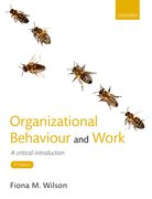 Cover for Organizational Behaviour and Work