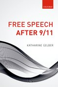 Cover for Free Speech after 9/11