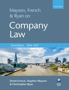 Cover for Mayson, French & Ryan on Company Law - 9780198778301