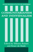 Cover for Communitarianism and Individualism