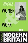 Cover for Women and Work in Modern Britain
