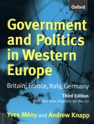 Cover for Government and Politics in Western Europe
