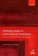 Cover for Defining Issues in International Arbitration