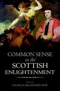 Cover for Common Sense in the Scottish Enlightenment
