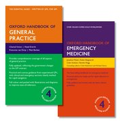 Cover for Oxford Handbook of General Practice 4e and Oxford Handbook of Emergency Medicine 4e