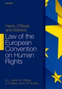 Cover for Harris, O'Boyle, and Warbrick Law of the European Convention on Human Rights - 9780198785163