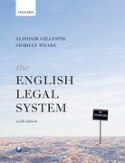 Cover for The English Legal System