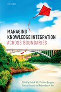 Cover for Managing Knowledge Integration Across Boundaries