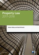 Cover for Property Law 2017-2018