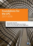 Cover for Foundations for the LPC 2017-2018