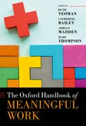 Cover for The Oxford Handbook of Meaningful Work