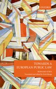 Cover for Towards a European Public Law