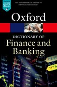 Cover for A Dictionary of Finance and Banking