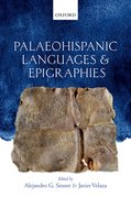 Cover for Palaeohispanic Languages and Epigraphies