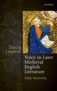 Cover for Voice in Later Medieval English Literature