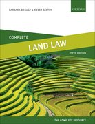 Cover for Land Law Complete