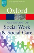 Cover for A Dictionary of Social Work and Social Care