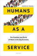 Cover for Humans as a Service - 9780198797029