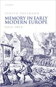 Cover for Memory in Early Modern Europe, 1500-1800