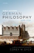 Cover for Early Modern German Philosophy (1690-1750)
