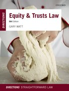 Cover for Equity & Trusts Law Directions
