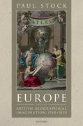 Cover for Europe and the British Geographical Imagination, 1760-1830