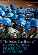 Cover for The Oxford Handbook of United Nations Peacekeeping Operations - 9780198809241