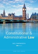 Cover for Constitutional & Administrative Law