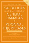 Cover for Guidelines for the Assessment of General Damages in Personal Injury Cases - 9780198814528