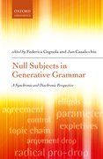 Cover for Null Subjects in Generative Grammar