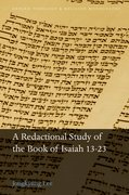 Cover for A Redactional Study of the Book of Isaiah 13-23