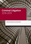 Cover for Criminal Litigation 2018-2019