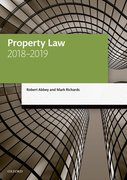 Cover for Property Law 2018-2019