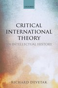 Cover for Critical International Theory - 9780198823568