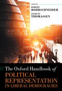 Cover for The Oxford Handbook of Political Representation in Liberal Democracies