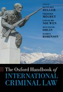 Cover for The Oxford Handbook of International Criminal Law