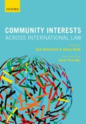 Cover for Community Interests Across International Law - 9780198825210