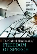 Cover for The Oxford Handbook of Freedom of Speech - 9780198827580