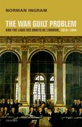 Cover for The War Guilt Problem and the Ligue des droits de l
