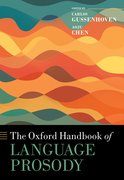 Cover for The Oxford Handbook of Language Prosody