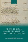 Cover for Greek Epigram from the Hellenistic to the Early Byzantine Era