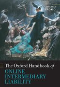 Cover for Oxford Handbook of Online Intermediary Liability