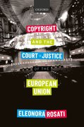 Cover for Copyright and the Court of Justice of the European Union