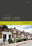 Cover for Textbook on Land Law