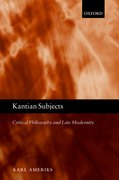 Cover for Kantian Subjects