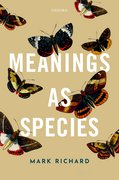 Cover for Meanings as Species
